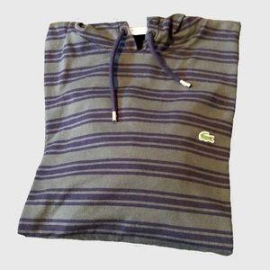 Men's Lacoste Striped Long Sleeve Hooded Tee